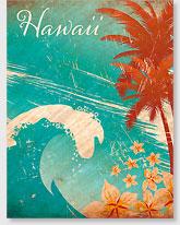 Hawaiian Wave - Hawaiian 'Alohi Magnet - Glitter Embellished