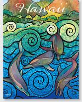 Nai'a Aloha - Hawaiian 'Alohi Magnet - Glitter Embellished