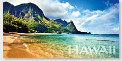 Rainbow Bali Hai - Hawaii Panoramic Magnet