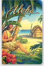 Greetings from Waikiki - Hawaii Mini Notebook