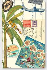 Vintage Collage - Hawaii Mini Notebook