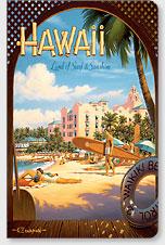 Hawaii Land of Surf - Hawaii Mini Notebook