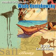 Hawaiian Ocean Art - 2019 Deluxe Hawaiian Wall Calendar