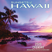 Sunsets of Hawaii - 2020 Deluxe Hawaiian Wall Calendar