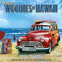 Vintage Woodies of Hawaii - 2020 Deluxe Hawaiian Wall Calendar