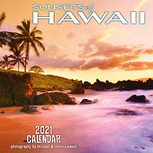 Sunsets of Hawaii - 2021 Deluxe Hawaiian Wall Calendar