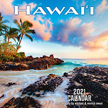 Hawaii - 2021 Deluxe Hawaiian Wall Calendar