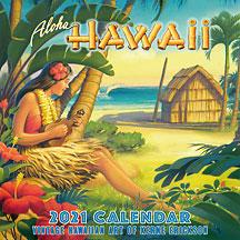 Aloha Hawaii - 2021 Deluxe Hawaiian Wall Calendar
