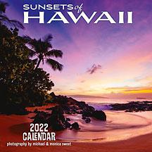 Hawaiian Sunsets - 2022 Deluxe Hawaiian Wall Calendar