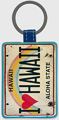 I Heart Hawaii - Hawaiian Leatherette Keychains