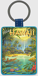 Aloha from Hawaii - Hawaiian Leatherette Keychains
