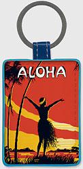 Aloha OE - Hawaiian Leatherette Keychains