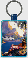 Fly to South Seas Isles - Hawaiian Leatherette Keychains