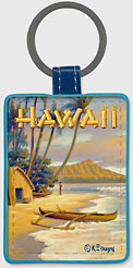 Playground of the Pacific - Hawaiian Leatherette Keychains