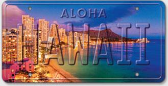 Waikiki Pink - Hawaiian Vintage License Plate