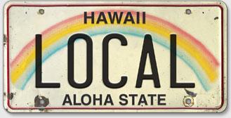 Local - Hawaiian Vintage License Plate
