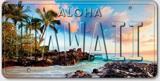 Island Cove - Hawaiian Vintage License Plate