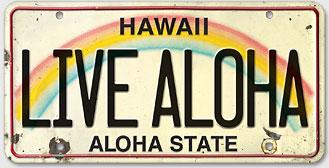 Live Aloha - Hawaiian Vintage License Plate