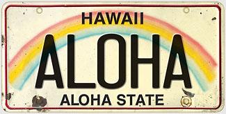 Aloha - Hawaiian Vintage License Plate Magnets