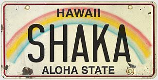 Shaka - Hawaiian Vintage License Plate Magnets