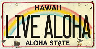 Live Aloha - Hawaiian Vintage License Plate Magnets